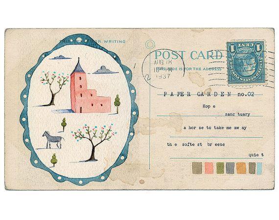 postcard: Postcards, Idea, Illustration, Mail Art
