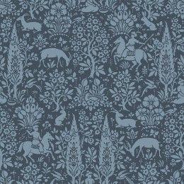 Crown Woodland dark blue wallpaper M1169