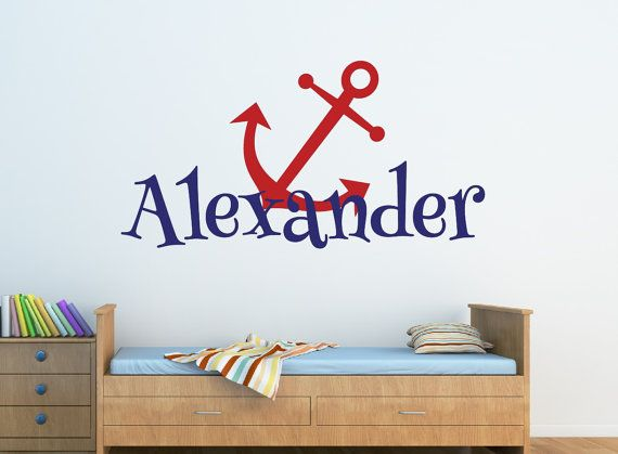 Personalized Anchor Name Decal Nautical Name Decal by NewYorkVinyl, $15.00