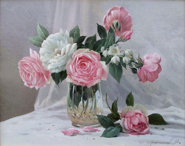"Vasily Gribennikov ""Rose and jasmine"", 24*30, 2003"