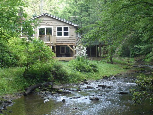 Angler's Cabin -  Air Conditioning, Pet Friendly, Internet, WiFi, Fireplace, Mountain View, River/Creekfront Blue Ridge Mountain Rentals - Boone and Blowing Rock NC Cabin Rentals