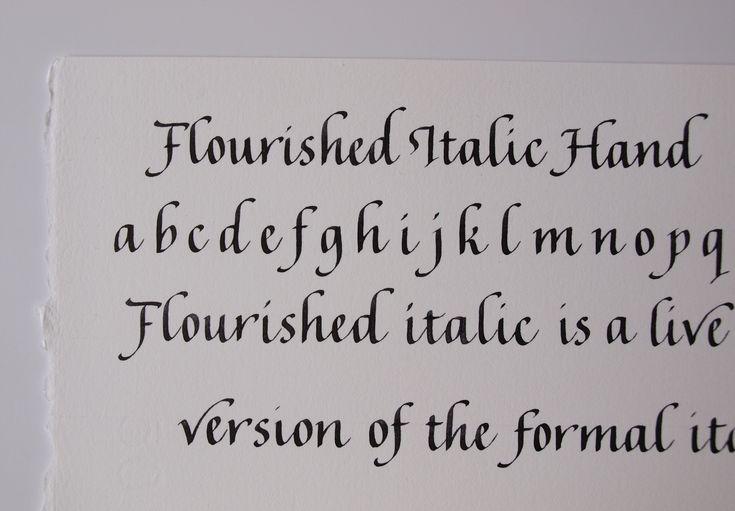 flourished italic