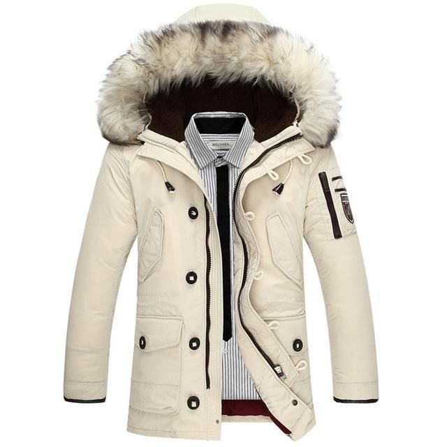 2017 new brand clothing jackets thick keep warm men is down jacket high  quality fur collar