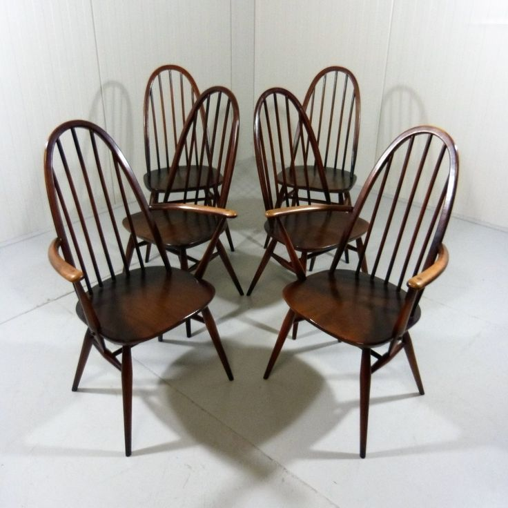 Set of 6 Ercol Windsor Dining Chairs