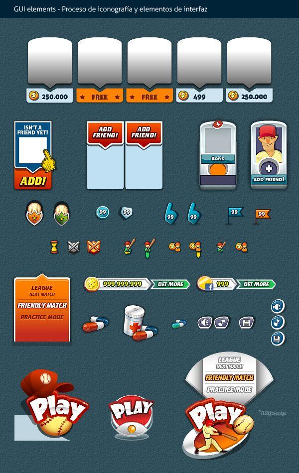 Baseball Social Game   GUI Design by Naida Jazmín Ochoa, via Behance
