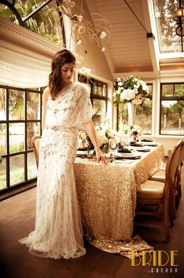 Jenny Packham vintage-inspired wedding gown