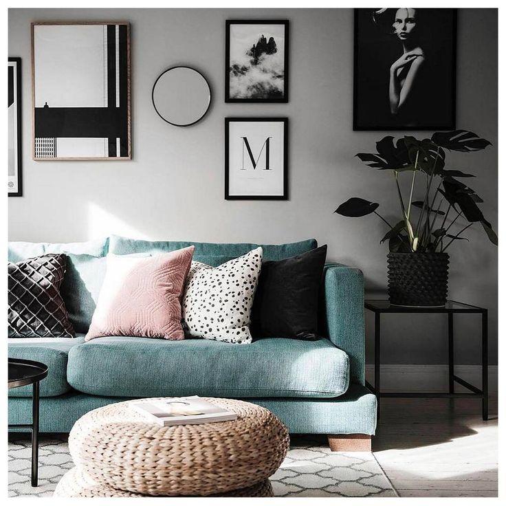 2,563 отметок «Нравится», 11 комментариев — DESENIO (@desenio) в Instagram: «Tuesday repost. Who wouldn't crave this beautiful home!  We love, love, love the sage-green couch…»