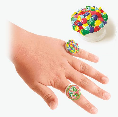 Recycle a milk or juice pull-tab into a ring! #kids #craft