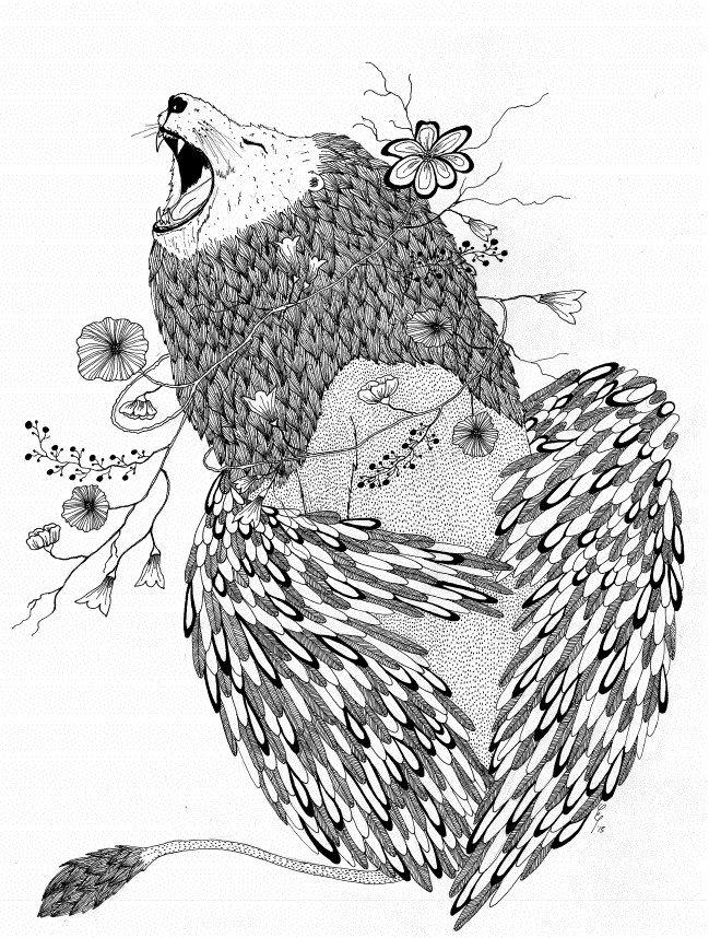 #lion #illustration - Elena Paraschiv Illustration