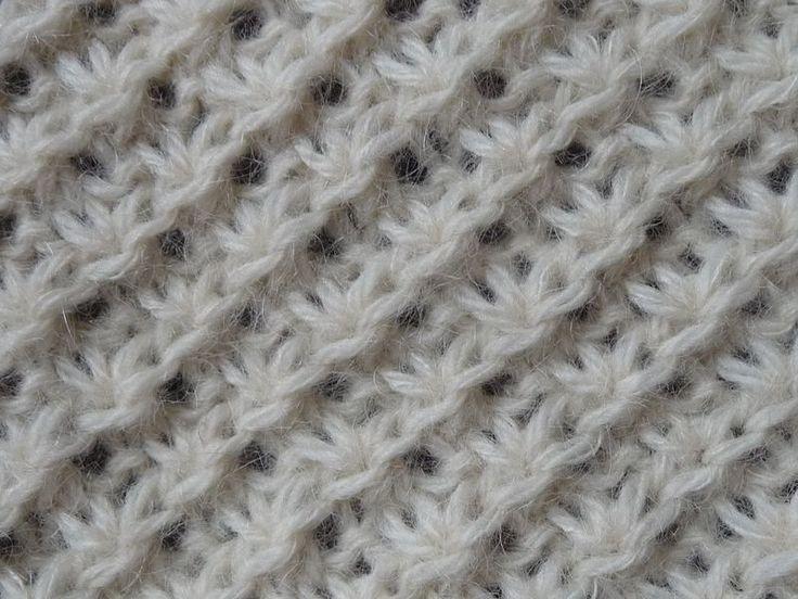 Point tricot le point de la mari e sur un nombre multiple de 4 1 1m lis chaque extr mit - Point tricot facile joli ...