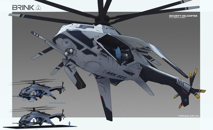 ArtStation - BRINK - Security Helicopter, Georgi Simeonov