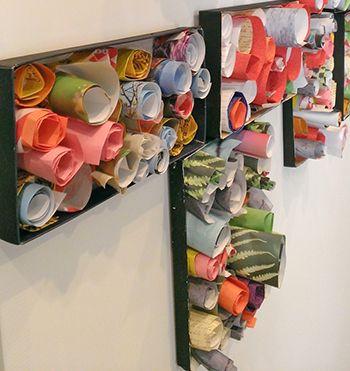 An activity for preschoolers create an array of color for Kandinsky reggio emilia