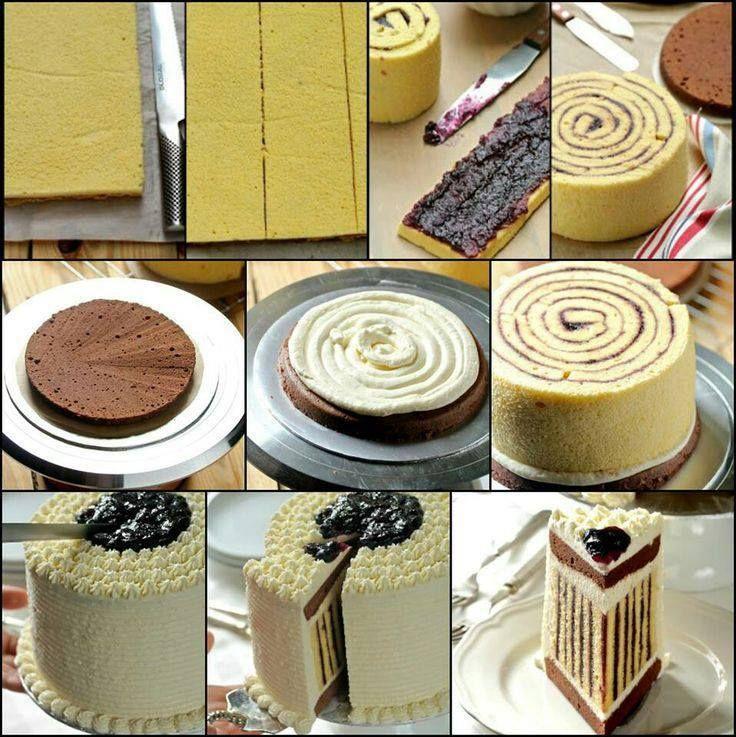 Questa torta è realizzata con la Pasta Bisquit (Pasta per il Rotolo)