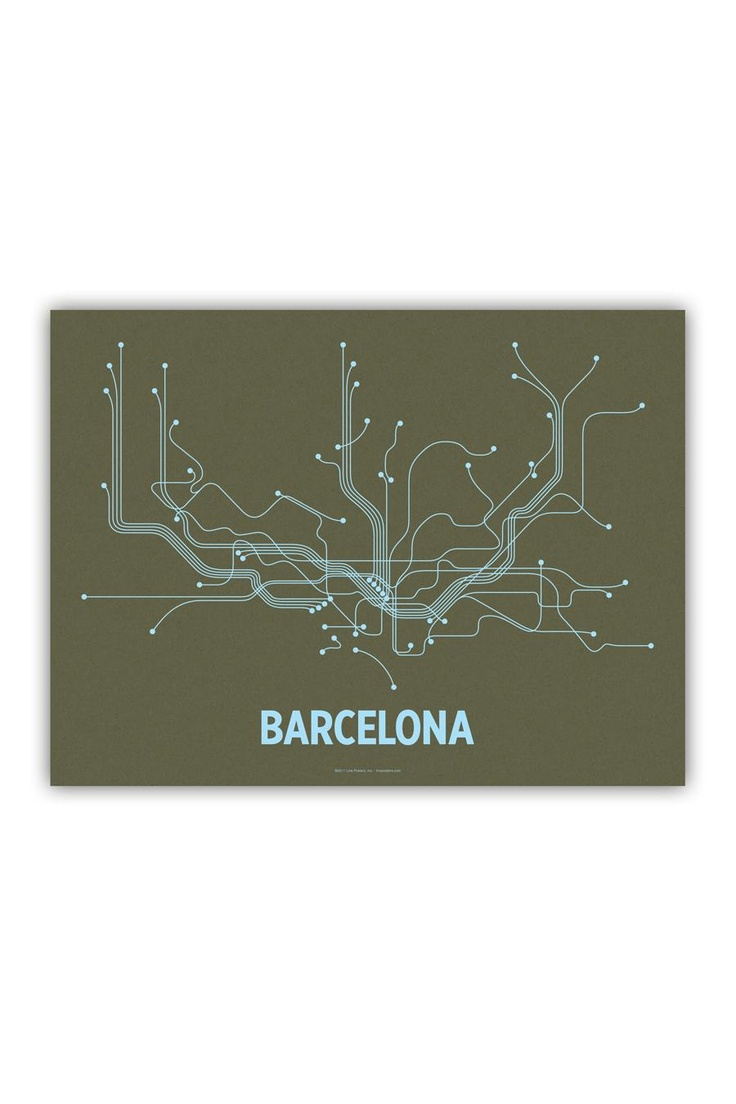 Line Posters Barcelona 18 11 best Barcelona