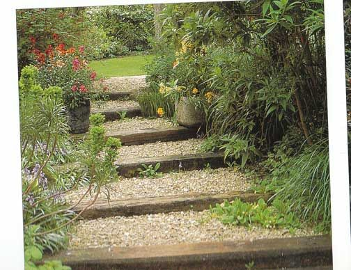 Landscaping steps on a hill
