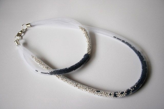 Necklace * fog ?night or day? * by PatkaSmirnowjewelery on Etsy