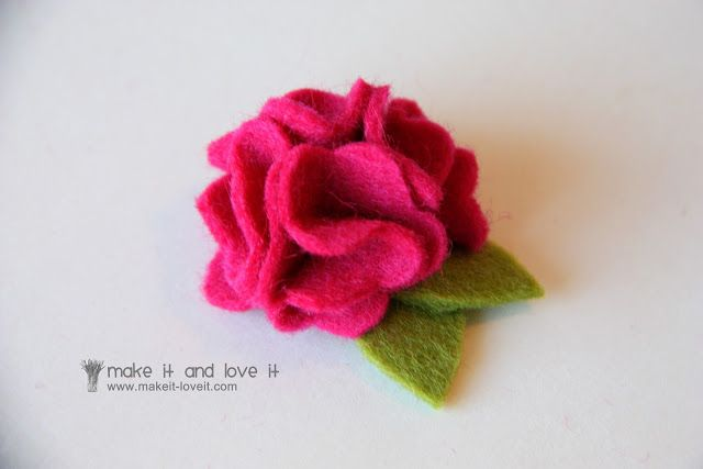 Wool Felt Hair Accessories for Baby | Make It and Love It