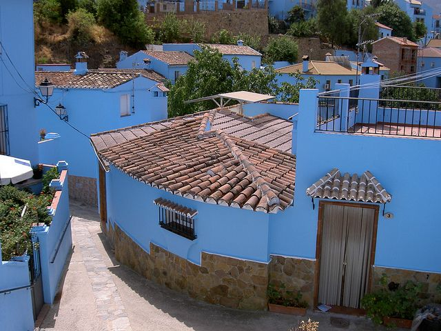 The Blue Town in Andalusia