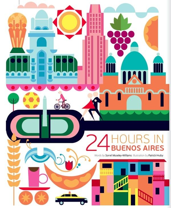 #Buenos_Aires #Argentina http://en.directrooms.com/hotels/subregion/8-89-1735/ (World City Illustration by Patrick Hruby)