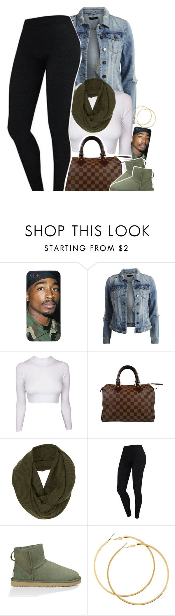"""""""Untitled #1555"""" by lulu-foreva ❤ liked on Polyvore featuring VILA, Louis Vuitton, Topshop, UGG Australia, H&M, women's clothing, women, female, woman and misses"""