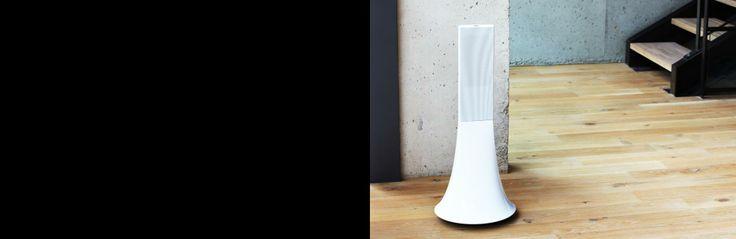 wireless hi-fi stereo speakers from Parrot Paris - beautiful!