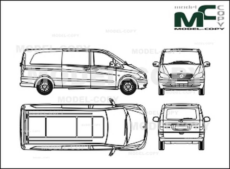 Mercedes-Benz Vito van, extra long version, 2 sliding