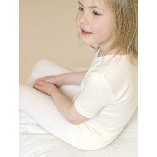 Uld undertrøje kort ærme - Baby og børnetøj