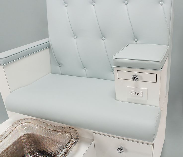 Gulfstream Vienna Double Pedicure Bench in Lagoon