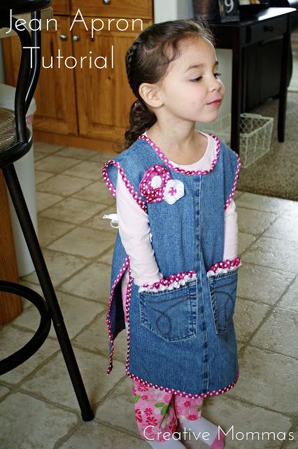 I finally created a tutorial for this Child Jean Apron. :)