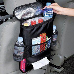 MPTECK @ Organisateur de siège arrière de voiture Sac de Rangement avec Sac isotherme et distributeur de tissus