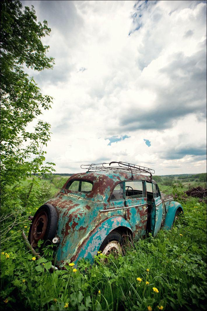 Forgotten car slipping into #Nature. #RustinPeace #Beauty