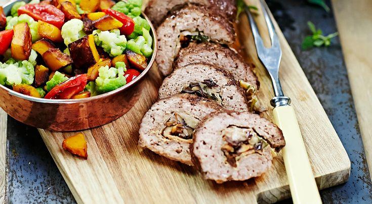 » Köttfärslimpa med svamp och prästost – recept – Allt om Mat