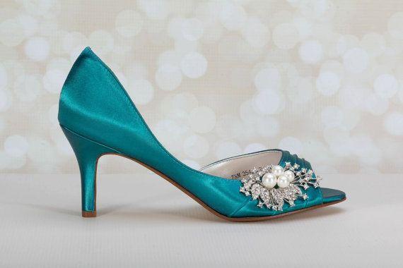 Hochzeit Schuhe Peacock Perle Kristall-Verzierung von Parisxox
