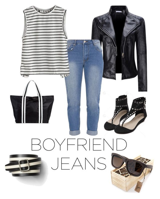 """""""Boyfriend jeans"""" by esteadman-1 on Polyvore featuring WithChic, Merona and Gap"""