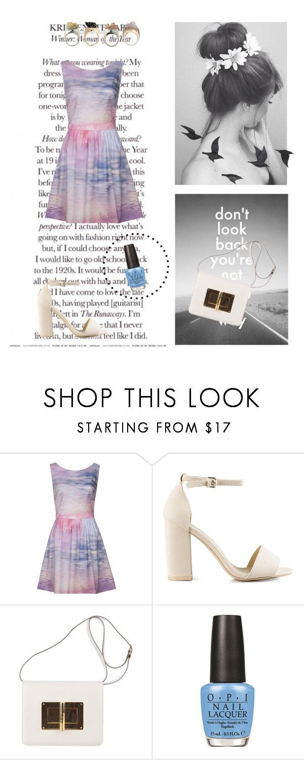 """""""Distant coast"""" by alinawela18 ❤ liked on Polyvore featuring Naf Naf, Nly Shoes, Tom Ford, OPI and Jayson Home"""