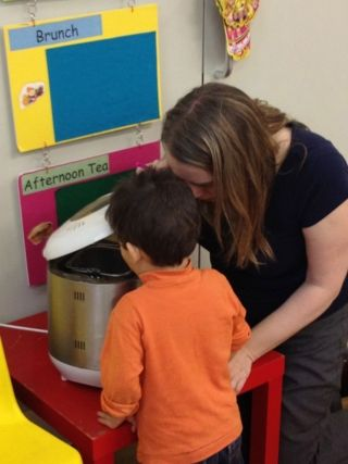 bread making in the snack area #abcdoes #snackarea #eyfs