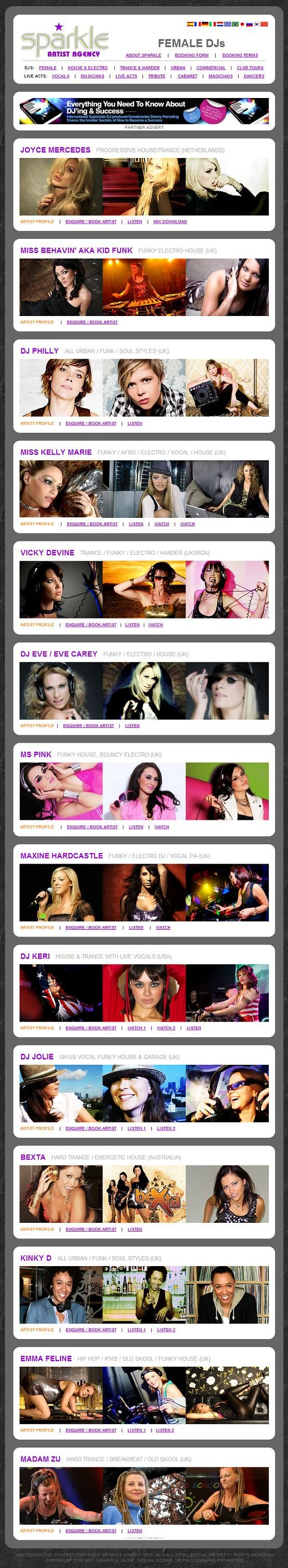 Sparkle Agency Worldwide DJ Booking - It's not just our DJs that ROCK!