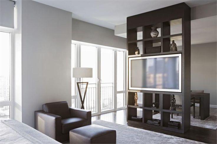 High End Custom Made Built In Shelve Tv Arrangement
