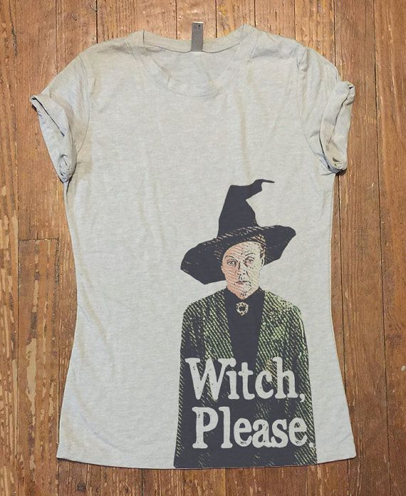 Minerva McGonagall  Harry Potter tee shirt  WITCH par QBeeSupply