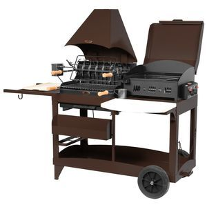 le marquier - bap3321c24 - barbecue charbon/plancha gaz 7kw   rôtissoire chocolat Mendy Alde 1890 euros