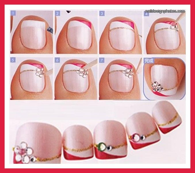 25 best toe nail paint and art designsideas images on pinterest simple toe nail art for beginners picture and slideshow prinsesfo Gallery