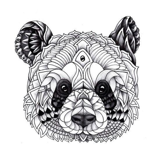 Resultado de imagen de mandalas de pandas