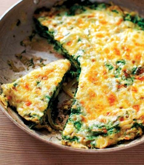 Spinach and onion tortilla