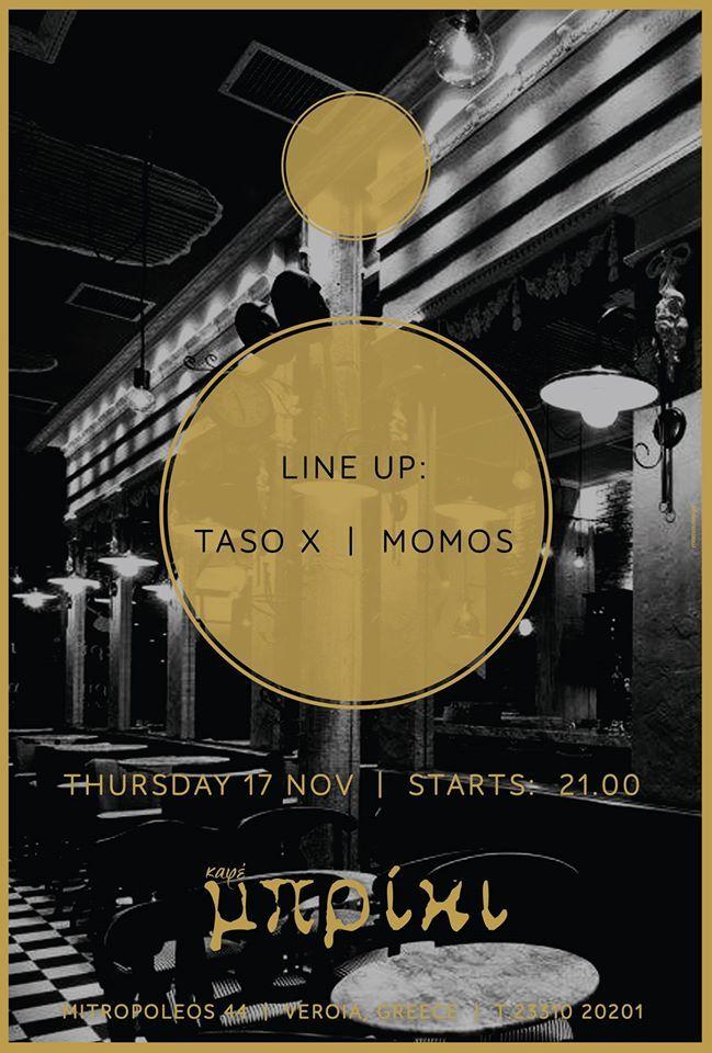 Taso X & Momos @ Μπρίκι Cafe στη Βέροια !