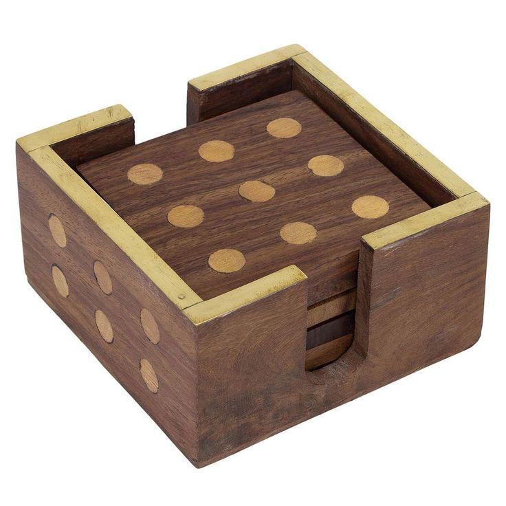Wooden Coaster - 6 Coasters in Dice Look