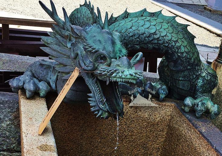 A dragon in teh Kiyomizu temple in Kyoto Japan