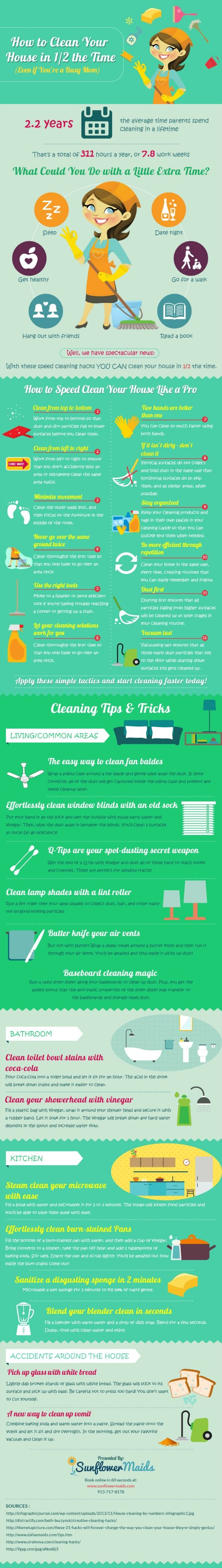 How to Clean Your House in 1/2 the Time (Even If You're a Busy Mom)   Kansas City Moms Blog