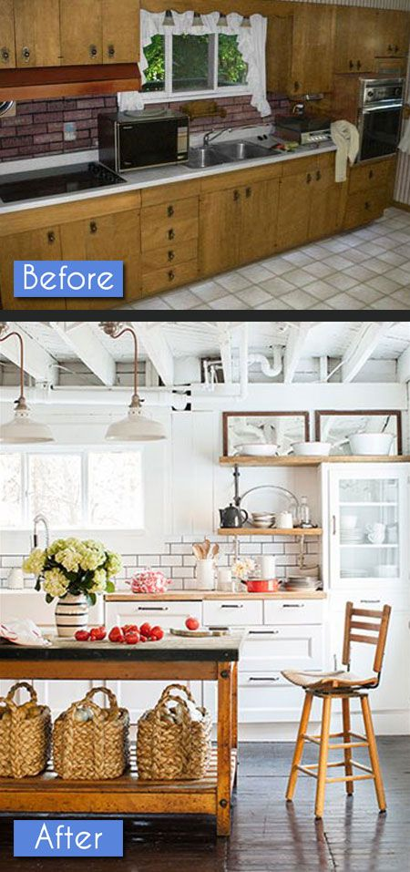 Kitchen Before After Photos: 8 Amazing Makeovers | Decorating Files | #kitchenbeforeafter #kitchenmakeovers