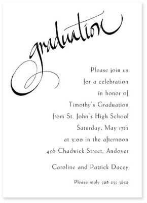 Personalized Chadwick Graduation Invitation for a classic and timeless look.