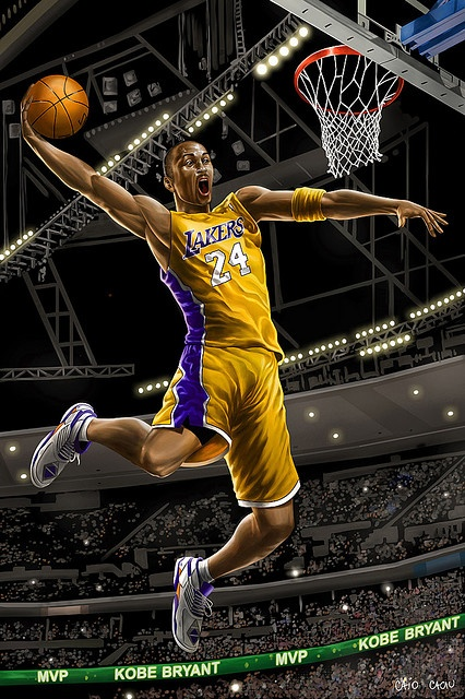 Kobe Bryant - Los Angeles Lakers     Best Laker Ever!